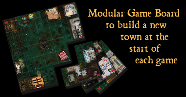 The game board is modular